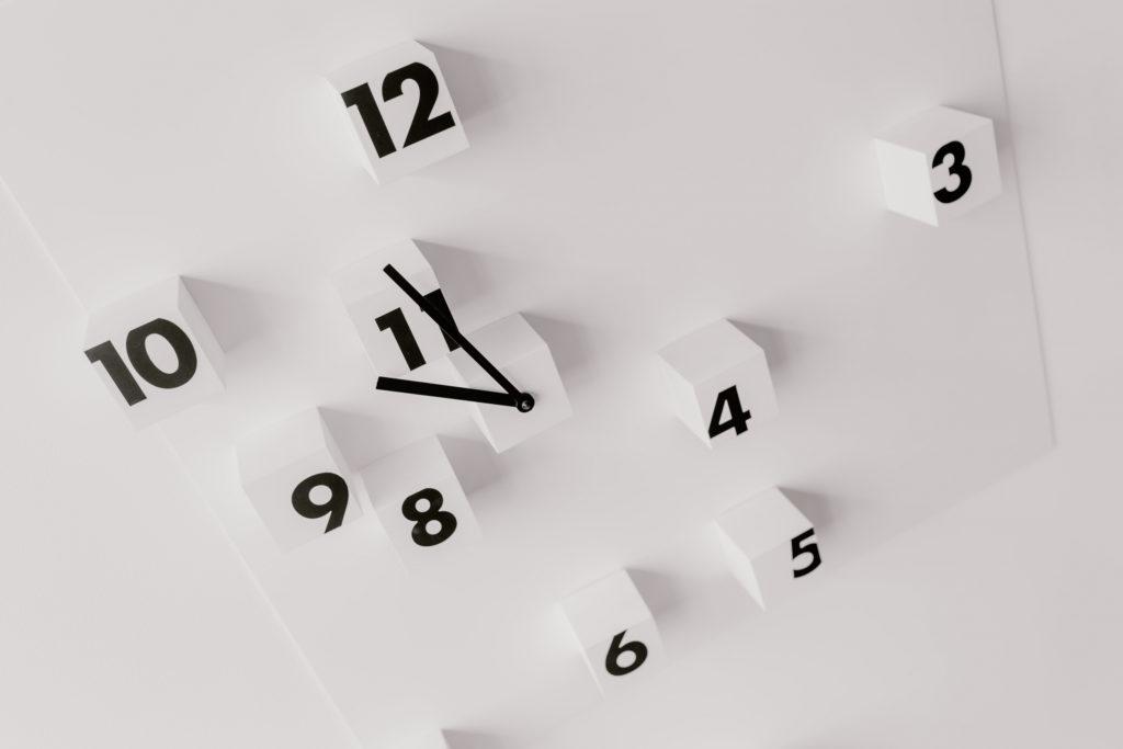 時間を書き出す